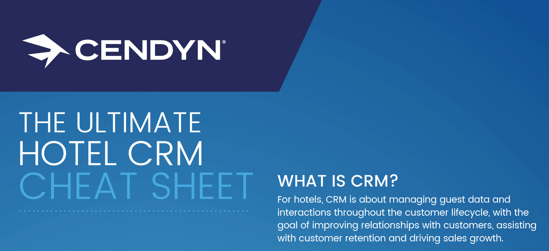 CRM cheat sheet