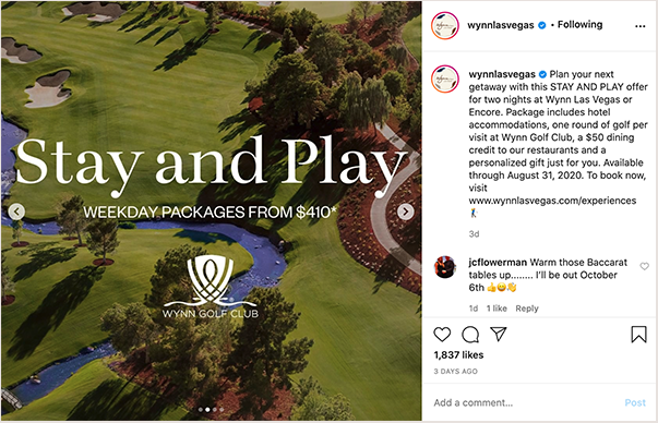wynn las vegas stay and play email campaign